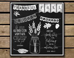 chalkboard clipart autumn