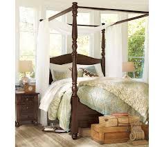 How To Drape A Canopy Bed Sheer Canopy Drape Pottery Barn