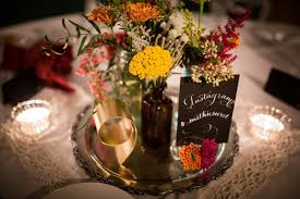 Frugal Flowers - how to throw a vintage inspired fall wedding the found city