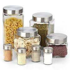 kitchen glass canisters with lids glass kitchen canisters ebay