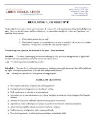 resume objective examples examples of a resume objective