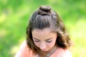 cute girl hairstyles diy diy half up bun cute girls hairstyles
