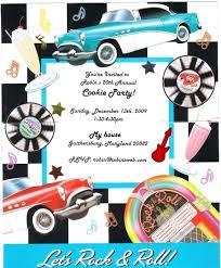 50s birthday invitations 28 images 50s theme invitations