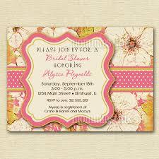 bridal shower invitations vintage bridal shower invitations