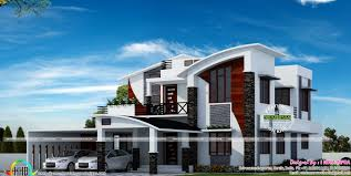 contemporary model curved roof house kerala home design lovin