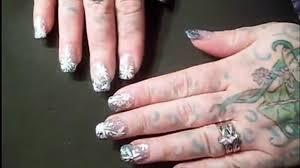 nail art tutorial crystal snowflake nails for christmas by fonda