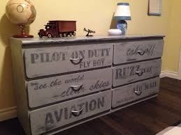 aviation themed painted grey dresser boys rustic bedrooms