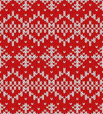 christmas pattern knit fabric vector snowflakes christmas pattern stock vector illustration of