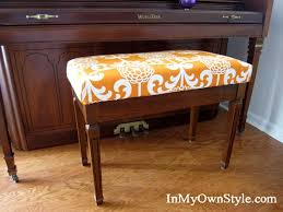 How To Make A Sewing Table by How To Make A No Sew Fabric Covered Cushion Piano Bench Bench