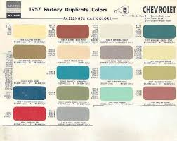 1957 chevy colors
