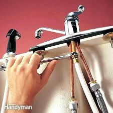 How To Replace Kitchen Sink Faucet Replace Kitchen Sink Sprayer Er Replacing Kitchen Faucet