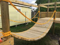 bridge for my sons diy playground outdoor play pinterest