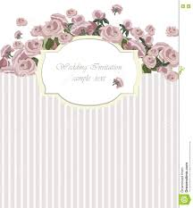 Invitation Card Background Vintage Invitation Card With Watercolor Flowers Background Stock