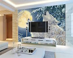 beibehang custom wallpaper wolf totem moonlight under white wolf beibehang custom wallpaper wolf totem moonlight under white wolf fresco background wall living room bedroom tv mural wallpaper in wallpapers from home
