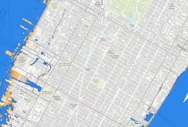 Harlem Map New York by Nyc Sea Level Map State Adopts Official Climate Change