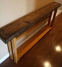 Narrow Sofa Table Unique Dark Walnut Stain Olympic All Spice 8 3 4x70x30 Long