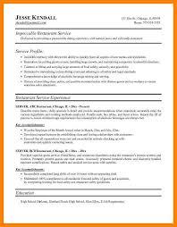 restaurant resume template sle restaurant resumes resume sle waiter