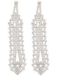 rhinestone chandelier earrings alluring layered rhinestone chandelier earrings whimsia