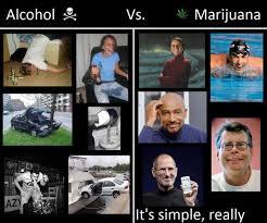 Memes Alcohol - alcohol vs marijuana the difference stoner memes weed memes