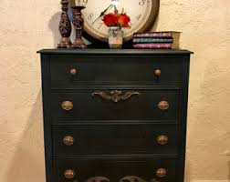 Black Dresser And Nightstand Tall Dresser Etsy