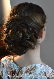 pin curl pin curl bun updo tutorial hairstyles how to