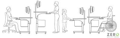 Ergonomic Standing Desk Height Wheelchair Accessible Desks For Wheelchairs Ada Compatible Tables