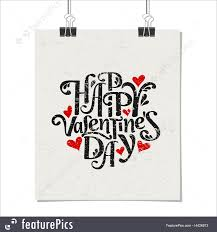 illustration of st valentine u0027s day poster