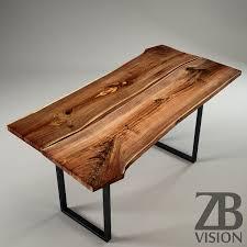 wood slab wood slab table by ign design switzerland by luckyfox 3docean