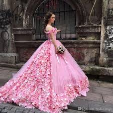 pink wedding dress saudi arabia princess pink wedding dress 2017 made flowers