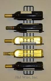 amazon com j u0026j wire 5 bottle wall wine rack wine rack wall