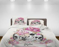 Day Of The Dead Bedding Sugar Skull Bedding Etsy