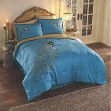 Peacock Feather Comforter Peacock Bedding And Window Treatments From Midnight Velvet