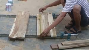 Catok Kayu teknik menyatukan potongan kayu jd papan dengan lem perekat