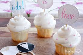 bridal cupcakes printable bridal cupcake toppers everyday dishes