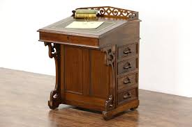 Antique Slant Top Desk Worth Captains Desk Ebay