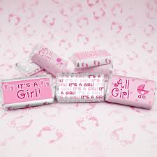 candy bar baby shower it s a girl baby shower mini candy bar stickers set of 54