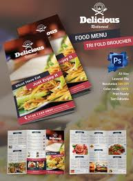 food brochure retro food menu psd 50 free restaurant menu