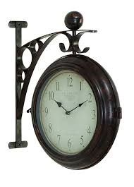 amazon com deco 79 metal wall 2 side clock designed with antique