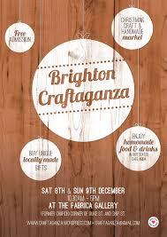 brighton craftaganza 2012 market poster design