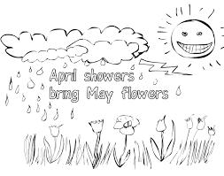 april showers bring flowers coloring pages april coloring