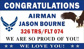 congratulations graduation banner 3ftx5ft personalized congratulations welcome home airman u s
