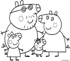 peppa family muddy puddles coloring peppa pig party ideas