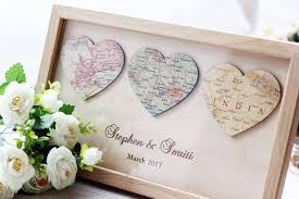 newlywed gift 3 personalized map heart newlywed gift heart map print