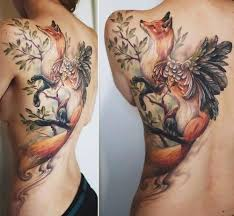 colorful fox tattoos tattoomagz