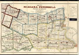 Map Of Ontario Map Of Niagara Peninsula Province Of Ontario Including Lincoln