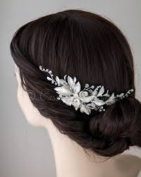 wedding hair clip porcelain flower wedding hair clip lynne