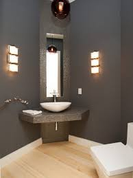 bathroom black sink under modern crane closed simple mirror on