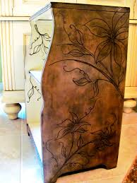 Wooden Carving Sofa Designs Dremel Carving On Nightstand Table Furniture With Flowers And Vine