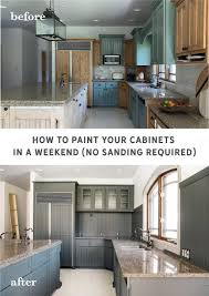 how to paint kitchen cabinets sprayer how to paint your cabinets in a weekend without sanding