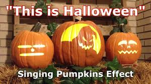 this is halloween singing pumpkins animation effect youtube